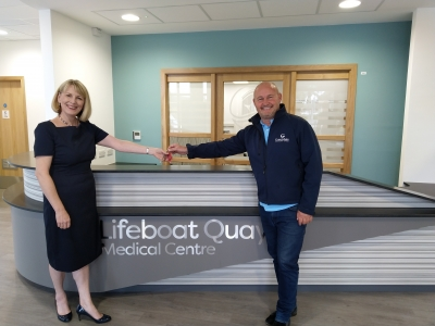 Key handover at Lifeboat Quay Medical Centre